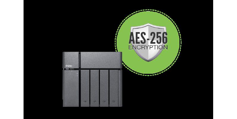 Qsan - szyfrowanie danych AES256