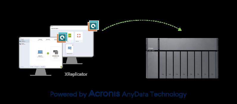 Acronis dla dysków sieciowych XCubeNAS