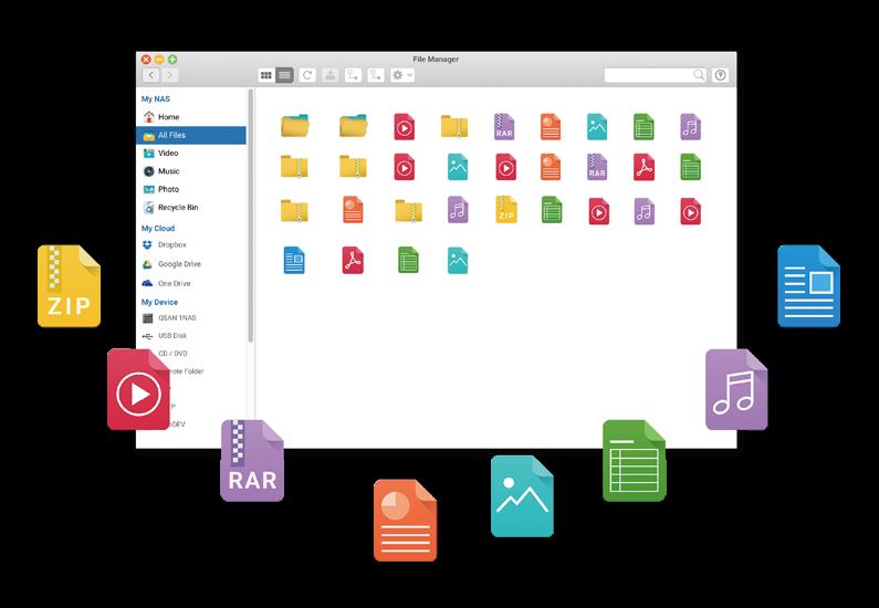 System plików w serwerach Qsan
